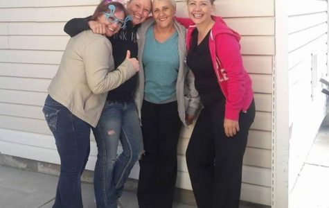 Cathleen Trease with her daughters, Claudia, Chanie, and Buffie Trease